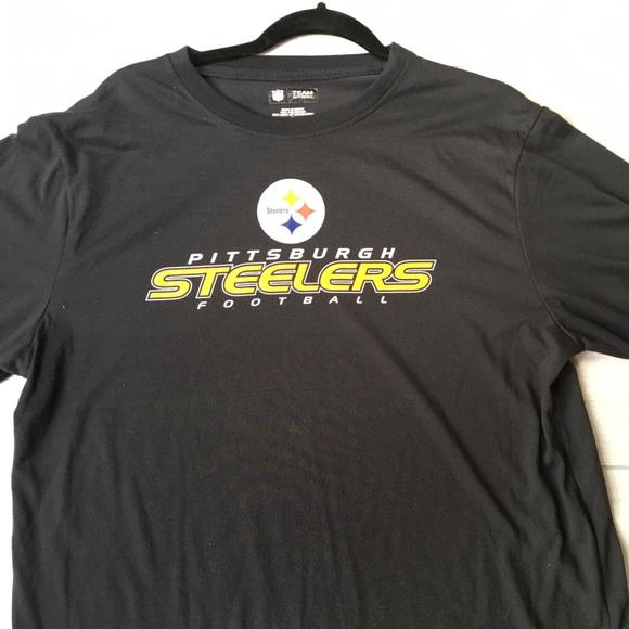 f7b9376b Team Apparel Shirts   Mens Pittsburgh Steelers Football Tshirt Sz L ...